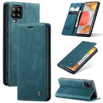 CaseMe - Samsung Galaxy A42 5G hoesje - Wallet Book Case - Magneetsluiting - Blauw