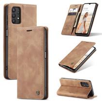 CaseMe - Samsung Galaxy A32 5G hoesje - Wallet Book Case - Magneetsluiting - Licht Bruin