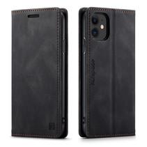 AutSpace - iPhone 11 hoesje - Wallet Book Case - Magneetsluiting - met RFID bescherming - Zwart