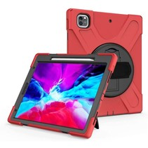 iPad Pro 12.9 (2018/2020) Cover - Hand Strap Armor Case - Rood