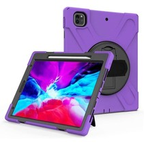 iPad Pro 12.9 (2018/2020) Cover - Hand Strap Armor Case - Paars