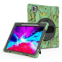 iPad Pro 12.9 (2018/2020) Cover - Hand Strap Armor Case - Camouflage