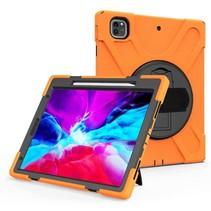 iPad Pro 12.9 (2018/2020) Cover - Hand Strap Armor Case - Oranje