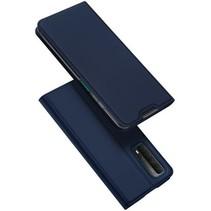 Huawei P Smart 2021 hoesje - Dux Ducis Skin Pro Book Case - Donker Blauw