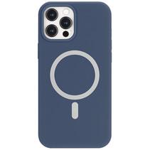 iPhone 12 Mini Hoesje - Magsafe Case - Magsafe compatibel - TPU Back Cover - Blauw