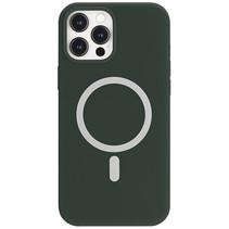 iPhone 12 Mini Hoesje - Magsafe Case - Magsafe compatibel - TPU Back Cover - Groen