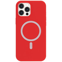 iPhone 12 Mini Hoesje - Magsafe Case - Magsafe compatibel - TPU Back Cover - Rood