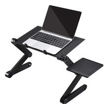 Laptop standaard Verstelbaar Universeel - Laptoptafel Met Koelventilatie - Geschikt voor thuiswerken - Laptopstandaard Opvouwbaar - Zwart