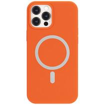 iPhone 12 / 12 Pro Hoesje - Magsafe Case - Magsafe compatibel - TPU Back Cover - Oranje