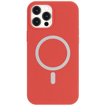 iPhone 12 Pro Max Hoesje - Magsafe Case - Magsafe compatibel - TPU Back Cover - Roze