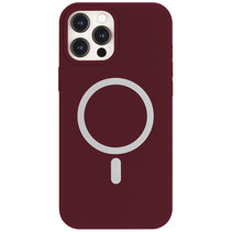 iPhone 12 Pro Max Hoesje - Magsafe Case - Magsafe compatibel - TPU Back Cover - Wine Red