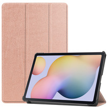 Samsung Galaxy Tab S7 Hoes (2020) - Tri-Fold Book Case - Rosé Goud
