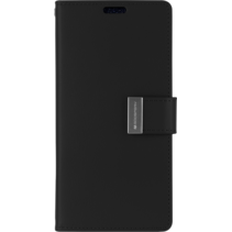 iPhone 12 Mini Hoesje - Goospery Rich Diary Case  - Hoesje met Pasjeshouder - Zwart