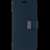 iPhone 12 Pro Max Hoesje - Goospery Rich Diary Case  - Hoesje met Pasjeshouder - Donker Blauw