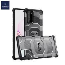 WiWu - Samsung Galaxy Note 20 Hoesje - Voyager Case - Schokbestendige Back Cover - Zwart