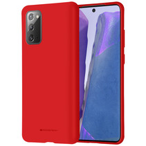 Samsung Galaxy Note 20 Hoesje - Soft Feeling Case - Back Cover - Rood