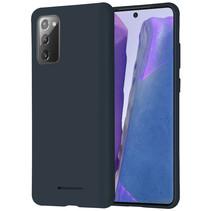 Samsung Galaxy Note 20 Hoesje - Soft Feeling Case - Back Cover - Donker Blauw