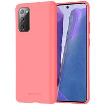 Samsung Galaxy Note 20 Hoesje - Soft Feeling Case - Back Cover -Roze