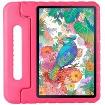 Samsung Galaxy Tab S7 - 11 inch - Schokbestendige case met handvat - Eva Kids Cover - Magenta