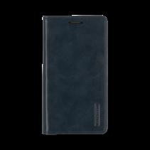 iPhone 12 / 12 Pro Hoesje - Blue Moon Flip Case - Met pasjeshouder - Donker Blauw