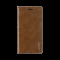 Samsung Galaxy Note 20 Hoesje - Blue Moon Flip Case - Met pasjeshouder - Bruin