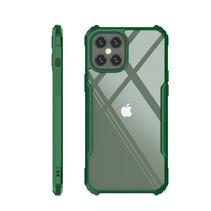 iPhone 12 Pro Max Hoesje - Super Protect Slim Bumper - Back Cover - Groen/Transparant