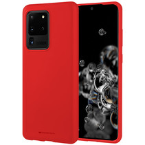Samsung Galaxy S20 Ultra Hoesje - Soft Feeling Case - Back Cover - Rood