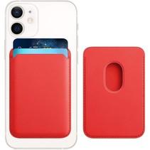 Magsafe Wallet Case voor iPhone 12 Mini / iPhone 12 / iPhone 12 Pro / iPhone 12 Pro MAX - Magnetische Kaarthouder - Pasjeshouder - Rood