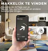 Case2go Case2go - Apple Airtag Hoesje - Airtag sleutelhanger - Airtag case - Silicone - Transparant Zwart