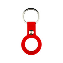 Apple AirTag Sleutelhanger - Siliconen AirTag Hoesje - AirTag Apple Case - Met Keychain - Rood