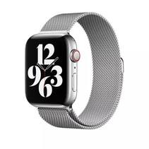 Milanees Apple Watch Bandje 38 mm - Geschikt voor Apple Watch Series 1,2,3,4,5,6 en SE - RVS - Zilver