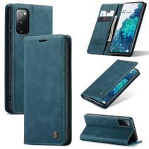 CaseMe - Samsung Galaxy S20 FE Hoesje - Wallet Book Case - Magneetsluiting - Blauw