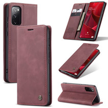 CaseMe - Samsung Galaxy S20 FE Hoesje - Wallet Book Case - Magneetsluiting - Rood