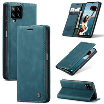 CaseMe - Samsung Galaxy A12 Hoesje - Wallet Book Case - Magneetsluiting - Blauw