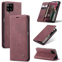 CaseMe - Samsung Galaxy A12 Hoesje - Wallet Book Case - Magneetsluiting - Rood