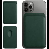 Magsafe Wallet Case voor iPhone 12 Mini / iPhone 12 / iPhone 12 Pro / iPhone 12 Pro MAX - Magnetische Kaarthouder - Pasjeshouder - Donker Groen