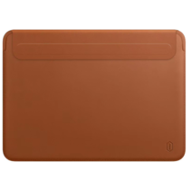 WIWU Skin Pro II - MacBook Sleeve - 13.3  inch - PU leer - Bruin