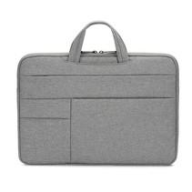 Case2go - Laptoptas 14 inch - Spatwaterdicht - Met Handvat - Grijs