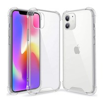 Apple iPhone 12 Mini Hoesje - Clear Hard PC Case - Siliconen Back Cover - Shock Proof TPU - Transparant
