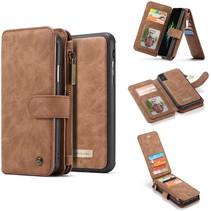 CaseMe - Huawei P40 Pro Plus hoesje - 2 in 1 Wallet Book Case - Bruin