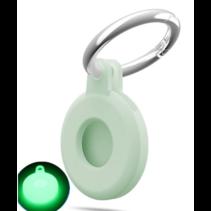 Apple - Airtag-Sleutelhanger - Siliconen Airtag Hoesje - Airtag hanger - Airtag case met sleutelhanger clip - Glow in the Dark
