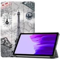 Samsung Galaxy Tab A7 Lite (2021) hoes - Tri-Fold Book Case - Eiffeltoren