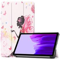 Samsung Galaxy Tab A7 Lite (2021) hoes - Tri-Fold Book Case - Flower Fairy