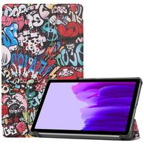 Samsung Galaxy Tab A7 Lite (2021) hoes - Tri-Fold Book Case - Graffiti