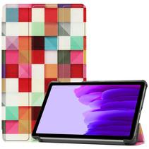 Samsung Galaxy Tab A7 Lite (2021) hoes - Tri-Fold Book Case - Blocks