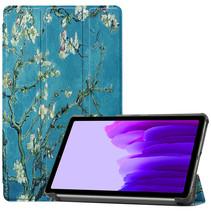 Samsung Galaxy Tab A7 Lite (2021) hoes - Tri-Fold Book Case - Witte Bloesem