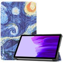 Samsung Galaxy Tab A7 Lite (2021) hoes - Tri-Fold Book Case - Sterrenhemel