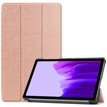 Samsung Galaxy Tab A7 Lite (2021) hoes - Tri-Fold Book Case - Rosé Goud