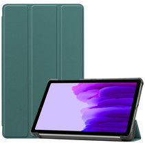 Samsung Galaxy Tab A7 Lite (2021) hoes - Tri-Fold Book Case - Donker Groen