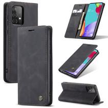 CaseMe - Samsung Galaxy A02s Hoesje - Wallet Book Case - Magneetsluiting - Zwart